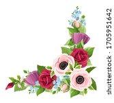 vector corner decorative... | Shutterstock .eps vector #1705951642