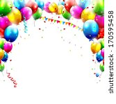 coloful birthday balloons... | Shutterstock .eps vector #170595458