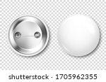 realistic white blank badge. 3d ... | Shutterstock .eps vector #1705962355