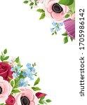 vector greeting or invitation... | Shutterstock .eps vector #1705986142