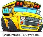 cartoon school bus. chop top car   Shutterstock .eps vector #1705996588