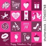 valentine set background | Shutterstock . vector #170603768