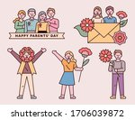 happy parents' day. people who... | Shutterstock .eps vector #1706039872