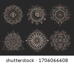 vector set of sacred symbols... | Shutterstock .eps vector #1706066608