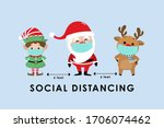 covid 19 and social distancing... | Shutterstock .eps vector #1706074462