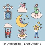 cute people have various... | Shutterstock .eps vector #1706090848