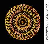 mandala graphic design for art  ... | Shutterstock .eps vector #1706103745