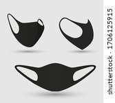 medical face mask to protect... | Shutterstock .eps vector #1706125915