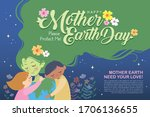 22 april   mother earth day... | Shutterstock .eps vector #1706136655