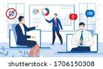 work online video conference... | Shutterstock .eps vector #1706150308
