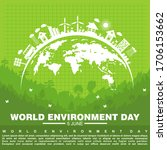world environment day  poster... | Shutterstock .eps vector #1706153662
