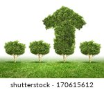 conceptual image of green plant ... | Shutterstock . vector #170615612