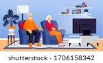 elderly retirement couple... | Shutterstock .eps vector #1706158342