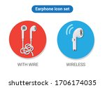headset cable and wireless...   Shutterstock .eps vector #1706174035