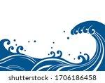 japanese style background... | Shutterstock .eps vector #1706186458