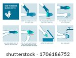how to remove disposable gloves ... | Shutterstock .eps vector #1706186752
