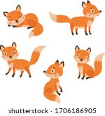 5 Cute Foxes Vector Characters