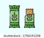 energy snack icon. organic... | Shutterstock .eps vector #1706191258