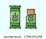 energy snack icon. organic... | Shutterstock .eps vector #1706191258