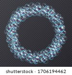 round bubbles frame made of...   Shutterstock .eps vector #1706194462