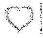 decoration heart design with...   Shutterstock .eps vector #1706204488
