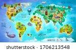 Children's World Map With...