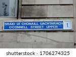 street sign for dublin's 'o...