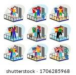 stay home motivational set....   Shutterstock .eps vector #1706285968