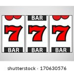 slot machine vector illustration | Shutterstock .eps vector #170630576