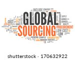 word cloud with global sourcing ... | Shutterstock . vector #170632922