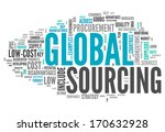 word cloud with global sourcing ... | Shutterstock . vector #170632928