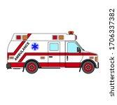 ambulance van side view. van... | Shutterstock .eps vector #1706337382