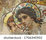 Ancient Mosaic On The Wall Of...