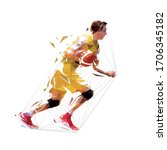 basketball player. low poly... | Shutterstock .eps vector #1706345182