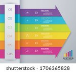 6 steps of arrow infografics... | Shutterstock .eps vector #1706365828