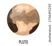 pluto planet isolated on white...   Shutterstock .eps vector #1706392255