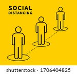 social distancing. keep the 1 2 ... | Shutterstock .eps vector #1706404825