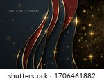 abstract gold lines luxury... | Shutterstock .eps vector #1706461882
