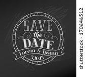 save the date   wedding... | Shutterstock .eps vector #170646512