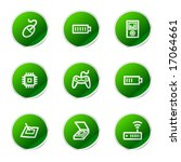 electronics 2 web icons  green... | Shutterstock .eps vector #17064661