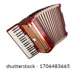 Retro Accordion Isolated On A...
