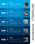 timeline template with blue... | Shutterstock .eps vector #1706491285