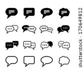speech bubble icon | Shutterstock .eps vector #170649812