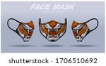 face mask design template  dust ... | Shutterstock .eps vector #1706510692