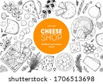 cheese design template. hand... | Shutterstock .eps vector #1706513698