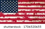 american flag with blood stains.... | Shutterstock . vector #1706520655