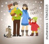 happy family. vector background ... | Shutterstock .eps vector #170652215