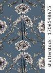 baroque flowers with baroque... | Shutterstock .eps vector #1706548675