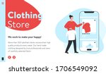 vector image of an online store ...