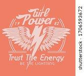 girl power with eagles...   Shutterstock .eps vector #1706593672